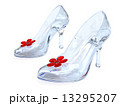 Crystal women's shoes with high heels and red flowers 13295207