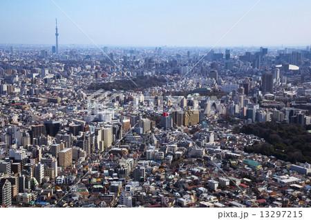 新宿からスカイツリー方面を望む 13297215