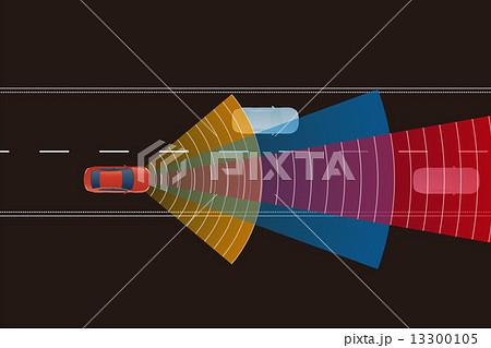 自動車とセンサー イメージイラスト 13300105