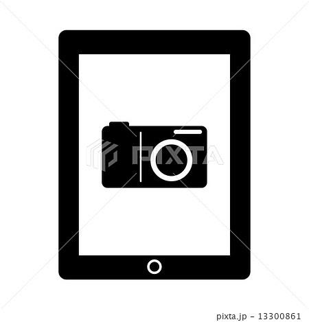 タブレットのカメラ機能のイラスト素材 13300861 Pixta