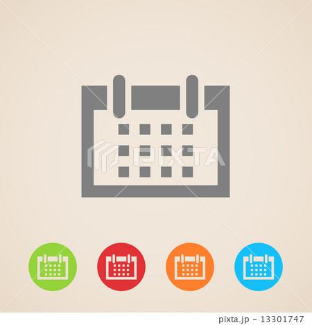 vector calendar icons のイラスト素材 [13301747] - PIXTA
