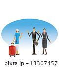 機長 客室乗務員 人物のイラスト 13307457