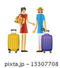 旅行 旅 女性 キャリーバッグ 観光  13307708