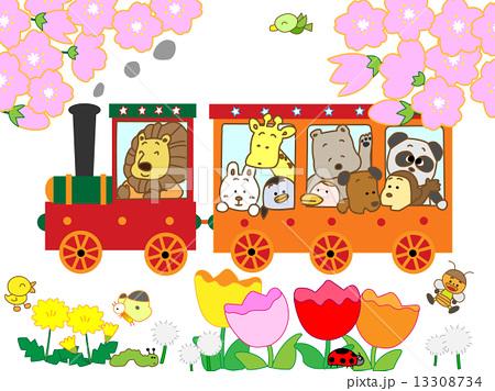 春の蒸気機関車 13308734