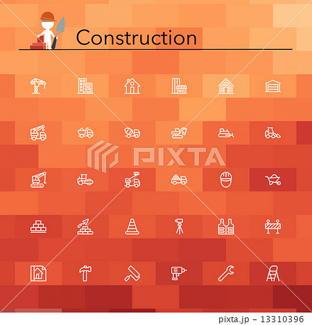 Construction Line Icons 13310396