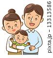 子育て 親子 赤ちゃんのイラスト 13313586