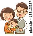 子育て 親子 赤ちゃんのイラスト 13313587