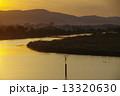 あかね色 倉敷川 夕焼けの写真 13320630
