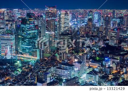 東京・高層ビル夜景 13321429