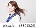 なびく 女子高校生 女子高生の写真 13326825