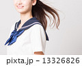 なびく 女子高校生 女子高生の写真 13326826