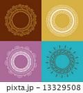 Tribal Bohemian Mandala background with round ornament pattern  13329508