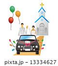 結婚 車 結婚式 移動 ブライダル 13334627