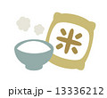 米袋 精白米 米のイラスト 13336212