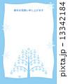 雪の結晶 はがきテンプレート 寒中見舞いのイラスト 13342184