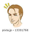 薄毛 ベクター 禿げるのイラスト 13391768