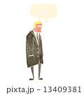 男 和らげられた マンガのイラスト 13409381