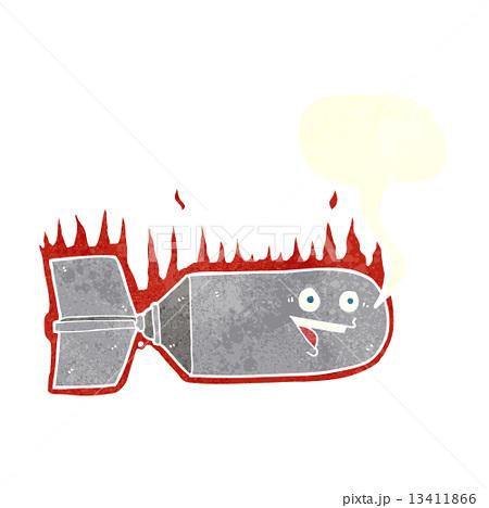 cartoon falling bomb with speech bubbleのイラスト素材 [13411866] - PIXTA