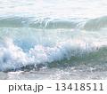 波しぶき 飛沫 海の写真 13418511