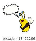 cartoon funny bee with speech bubble 13421266