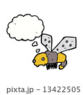 cartoon bee with thought bubble 13422505
