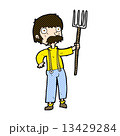 コミック 漫画 農夫のイラスト 13429284