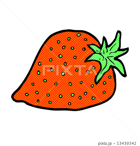 comic cartoon strawberryのイラスト素材 [13430342] - PIXTA