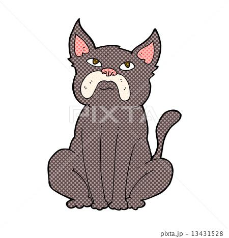 comic cartoon grumpy little dog 13431528