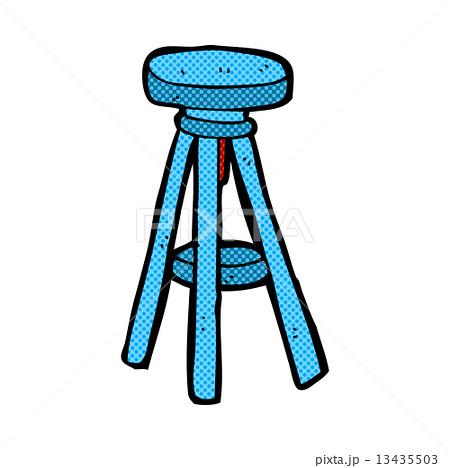comic cartoon stoolのイラスト素材 [13435503] - PIXTA