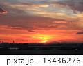 夕焼け 羽田空港 夕日の写真 13436276