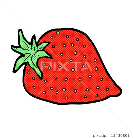 comic cartoon strawberryのイラスト素材 [13436801] - PIXTA