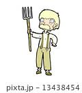 コミック 漫画 農夫のイラスト 13438454