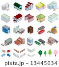 様々な建物 / 立体図 13445634