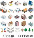 様々な建物 / 立体図 13445636