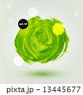 緑色 アブストラクト 抽象のイラスト 13445677