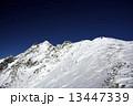 ピラミッドピーク 西穂独標 雪山の写真 13447339