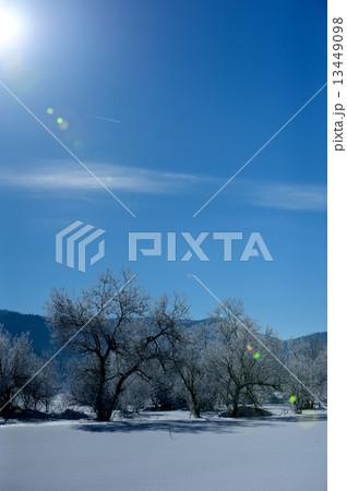 長野信州冬雪景色イメージ 13449098