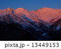 信州北アルプス白馬三山朝焼けモルゲンロート 13449153