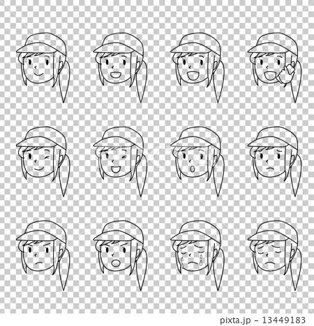 女工的表達式表情圖畫 13449183