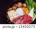 すき焼き すき焼 すき焼き鍋の写真 13450273