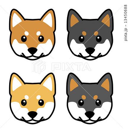 犬 柴犬の顔イラストのイラスト素材 13450688 Pixta