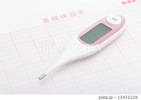 基礎体温計と基礎体温表 13453129