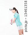テニス 女性 笑顔の写真 13461358