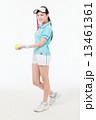 全身 テニス 女性の写真 13461361