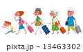 三世代家族 旅行 人物のイラスト 13463302
