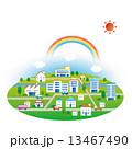 ビル 建物 街のイラスト 13467490