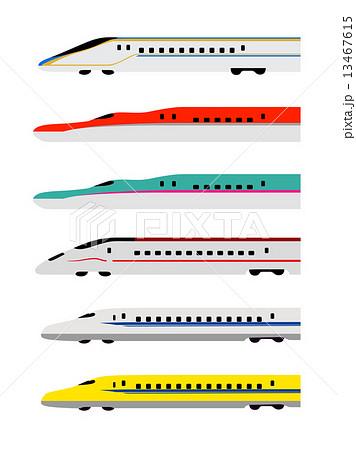新幹線6コレクションのイラスト素材 13467615 Pixta