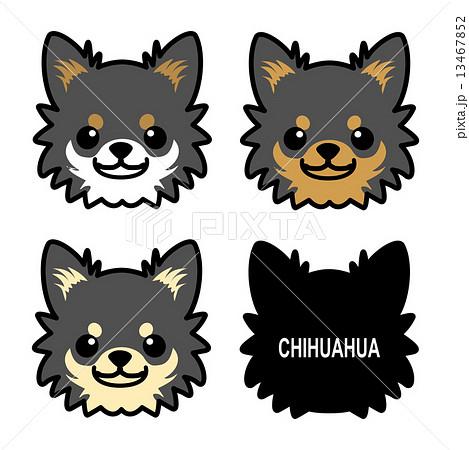 チワワの顔1のイラスト素材 13467852 Pixta