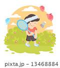 Boy playing badminton 13468884