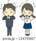 合格祈願の学生 13470987